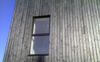 isolation extérieure avec bardage en bois brûlé